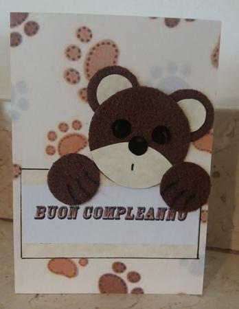 biglietto buon compleanno orsacchiotto