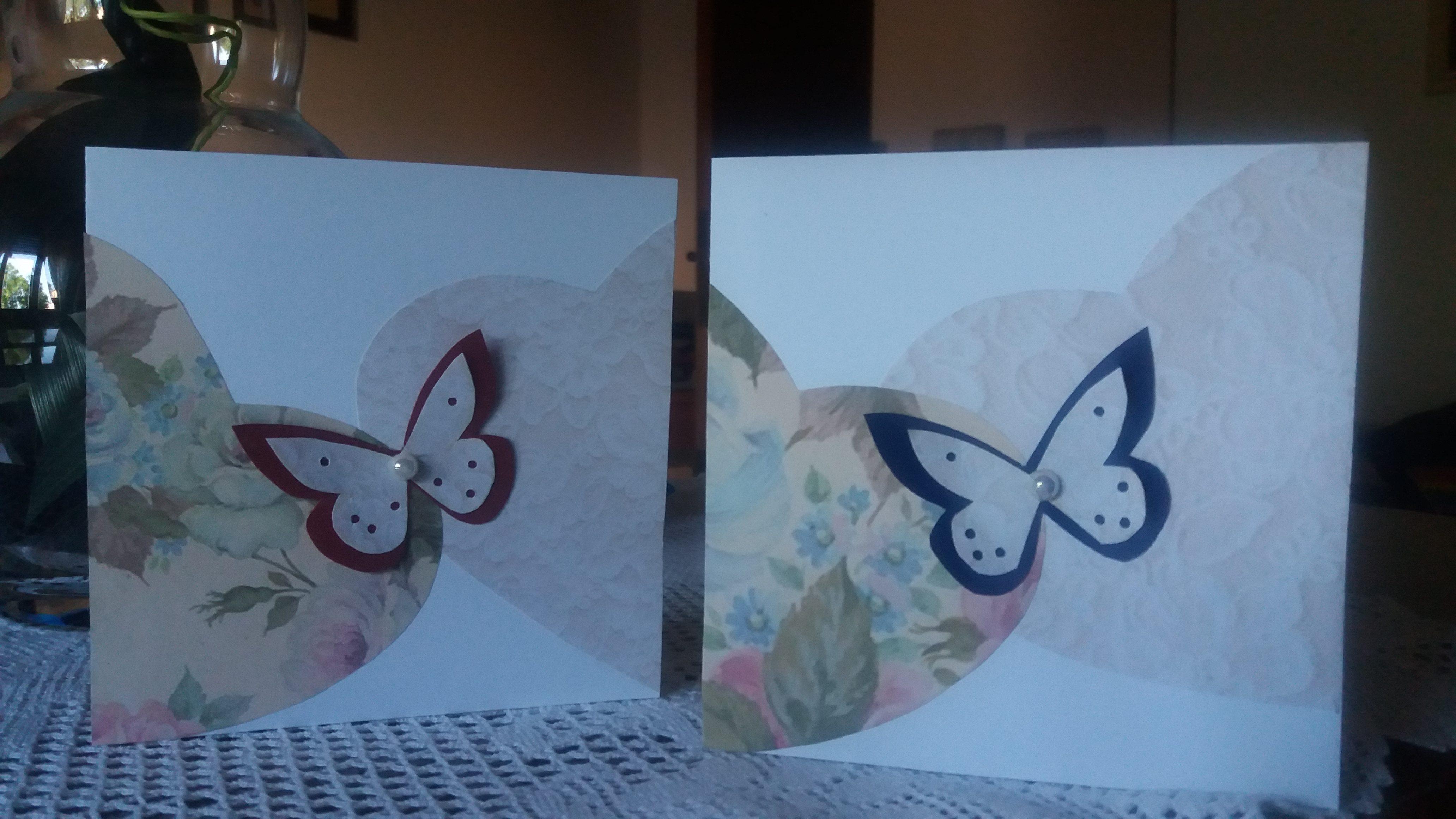 Biglietti Auguri Matrimonio Classici : Biglietti di auguri per matrimonio con farfalla