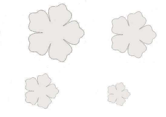 sagome di fiori e foglie per decorare
