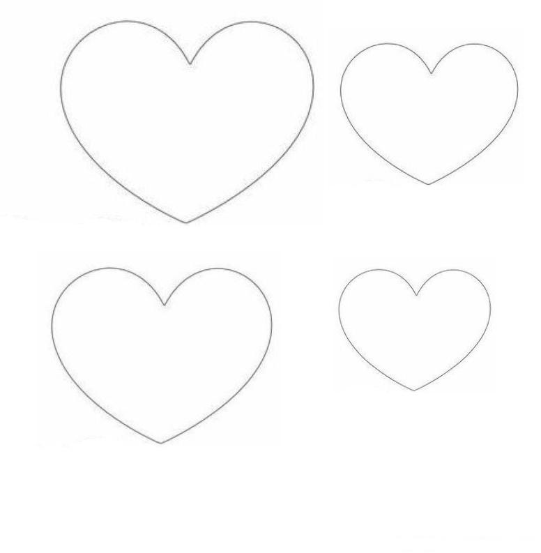 sagome a forma di cuore