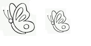 sagome di farfalle