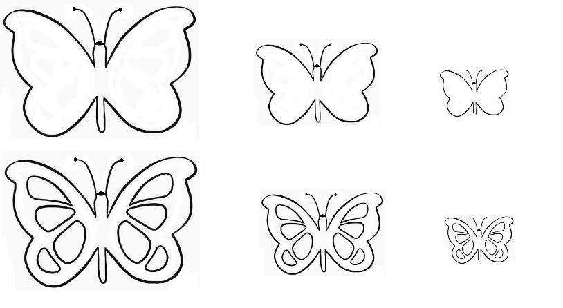 Sagome di farfalle per decorare for Immagini farfalle da ritagliare