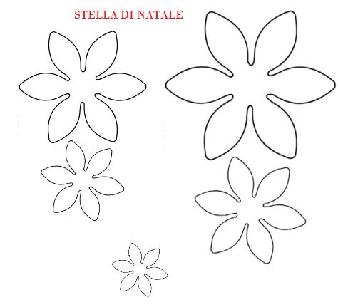 sagome di fiori e foglie stella di natale