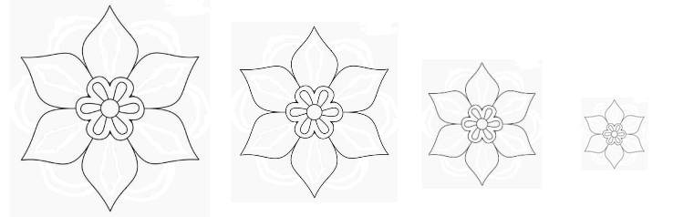 sagome di fiori