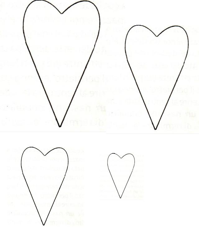 sagoma a forma di cuore allungato