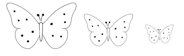 sagome farfalle