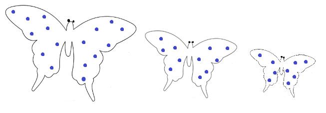 sagome di farfalle per decorare