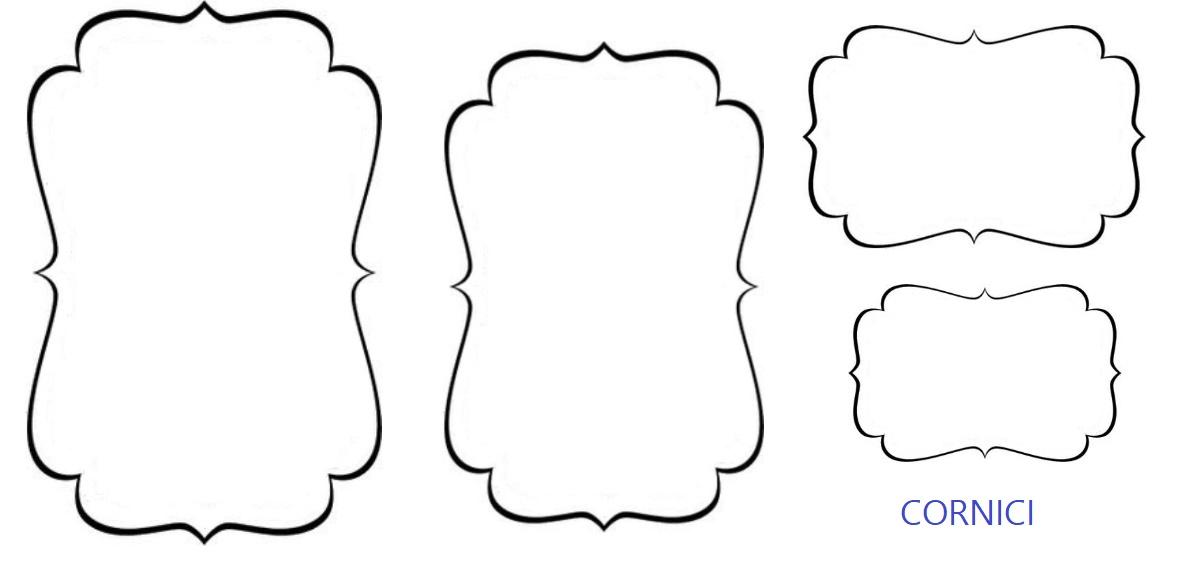 Sagome di cornici per decorare biglietti di auguri for Cornici nere per foto
