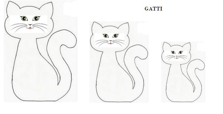 Sagome a forma di animali creaconlacarta for Gatto da colorare per bambini