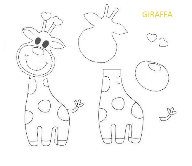 sagoma giraffa