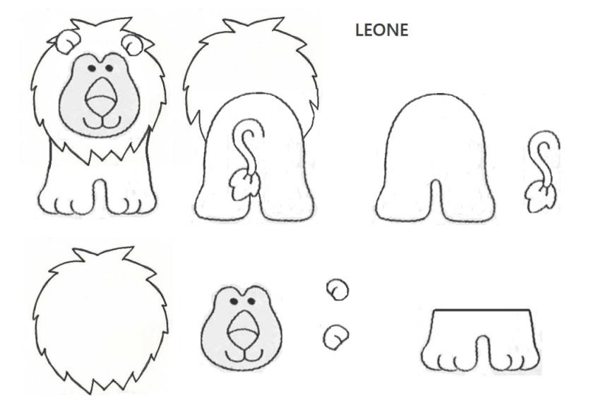 sagoma leone