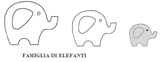 """sagome """"animali"""" elefante"""