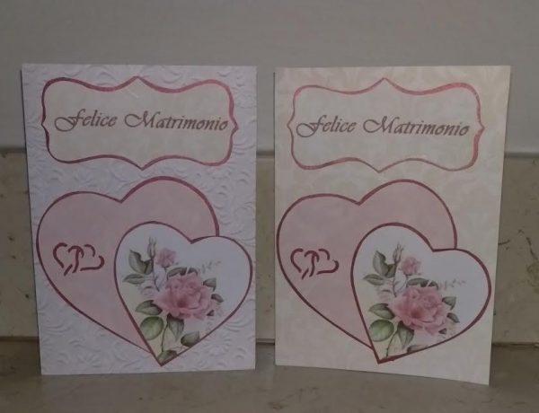 Biglietti Auguri Matrimonio Quilling : Biglietto di auguri felice matrimonio con cuori