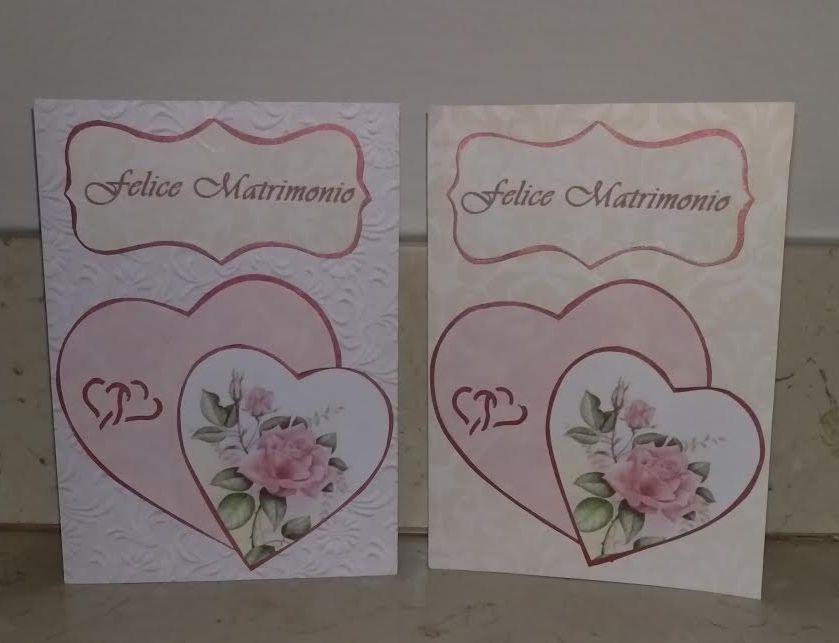 Auguri Felice Matrimonio : Biglietto di auguri felice matrimonio con cuori