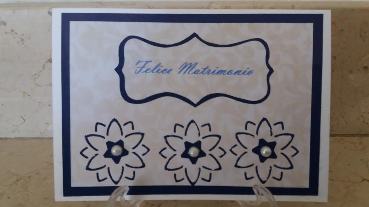 biglietto di auguri per matrimonio con fiori