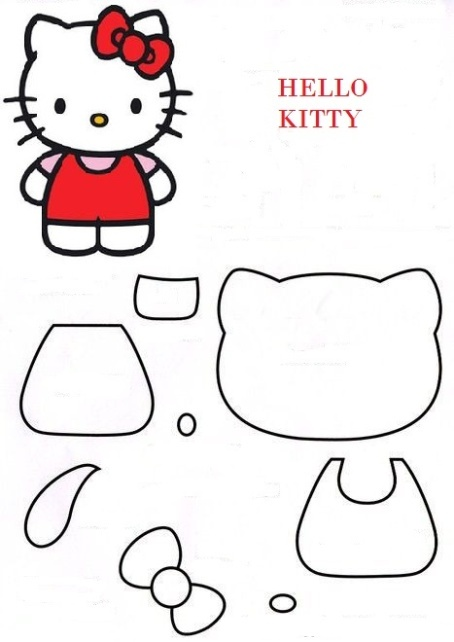 sagoma di Hello kitty