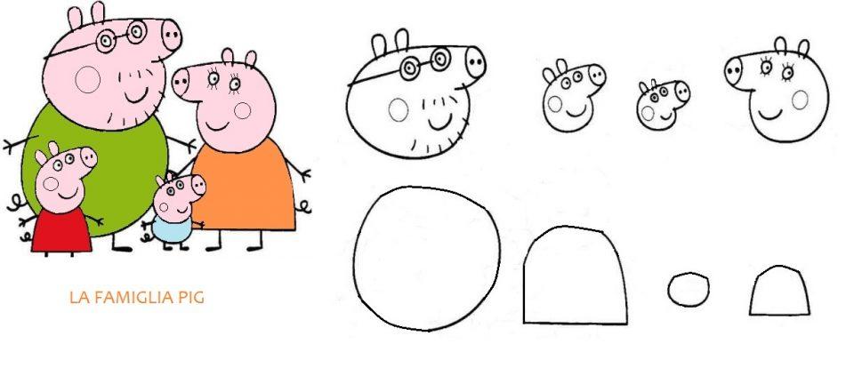 sagoma famiglia Pig