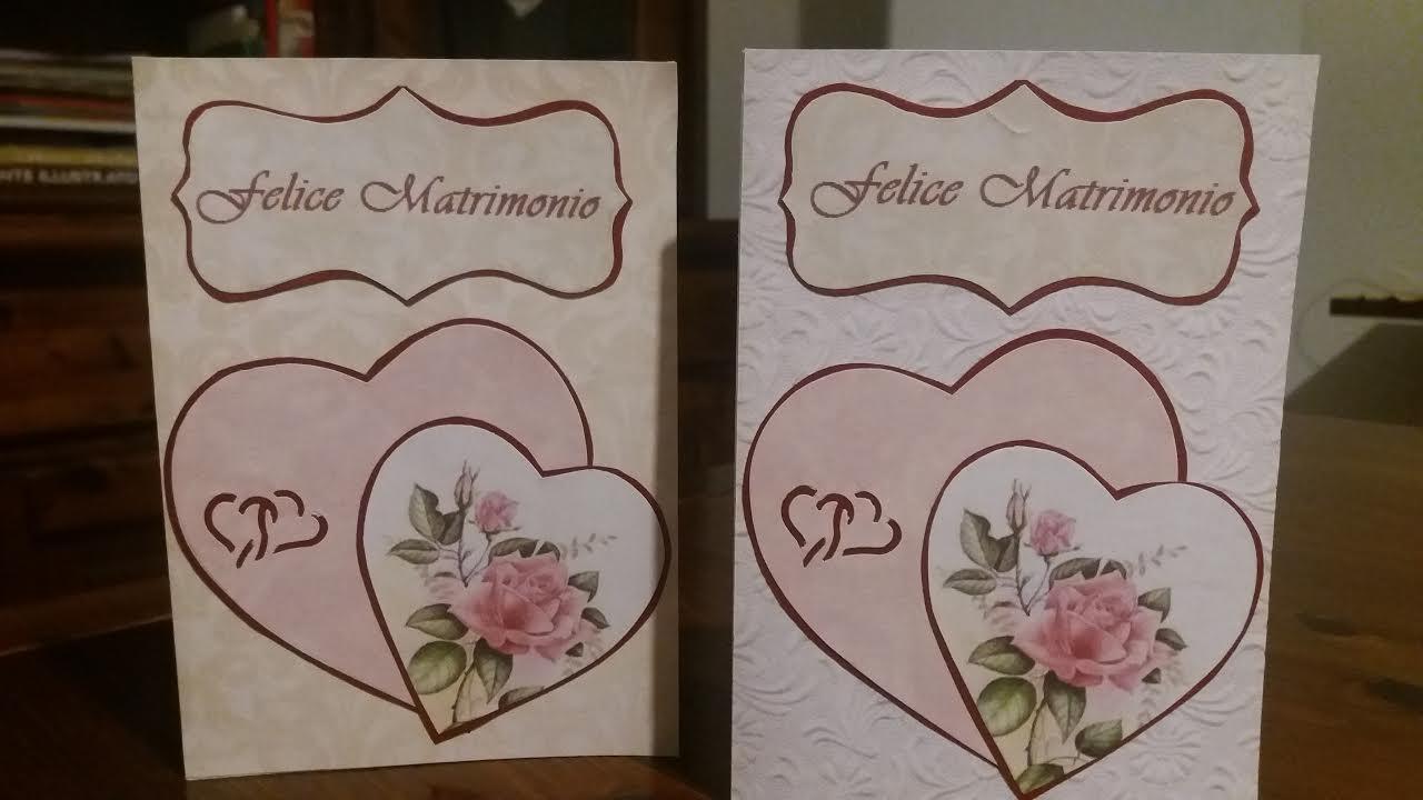 Biglietto di auguri felice matrimonio con cuori for Felice matrimonio immagini