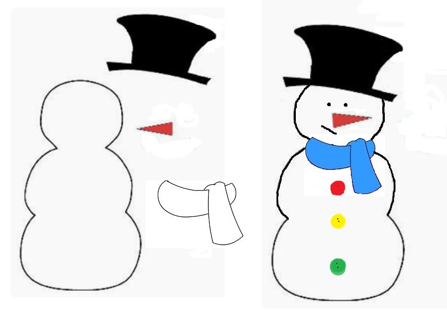 Come Disegnare Un Pupazzo Di Neve Stampae Colorare