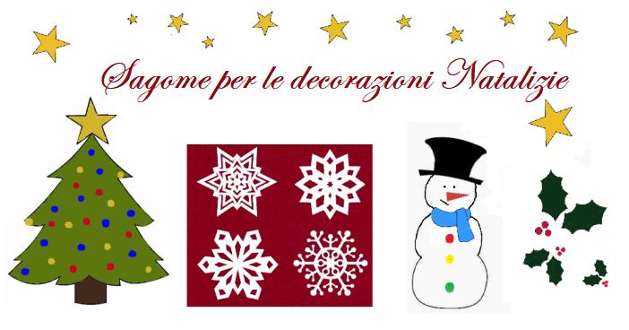 sagome per le decorazioni natalizie