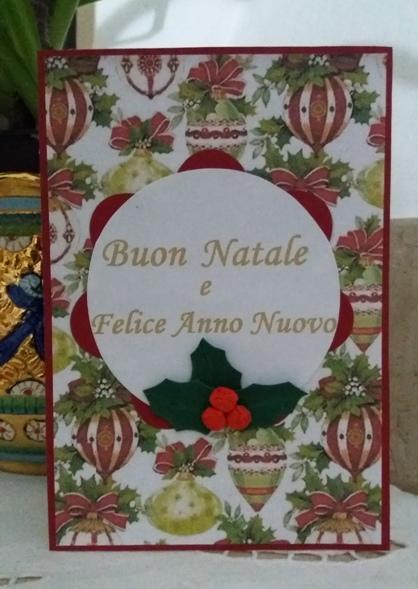 biglietti di auguri natalizi con agrifoglio