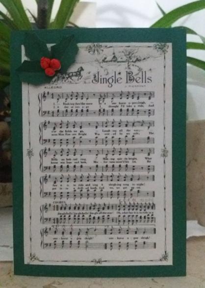 biglietto di auguri natalizio Jingle Bells