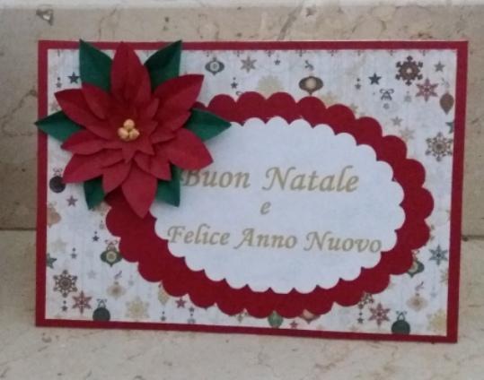 biglietto di auguri con stella di Natale