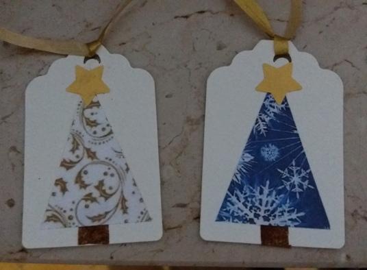 chiudi pacco con alberello di Natale