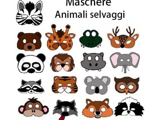 MASCHERE DEGLI ANIMALI SELVAGGI