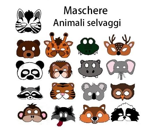 Maschere Degli Animali Selvaggi Creaconlacarta