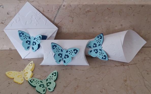 set matrimonio farfalla