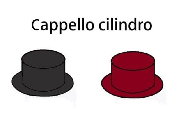 CAPPELLO A FORMA DI CILINDRO PER CARNEVALE