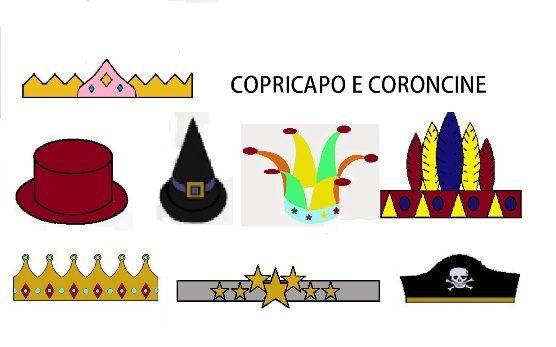 CAPPELLI E CORONCINE PER CARNEVALE IN CARTONCINO