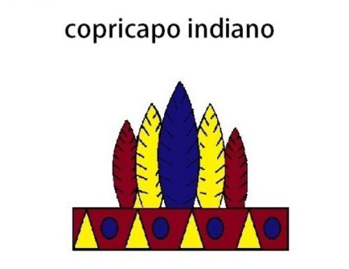 COPRICAPO INDIANO PER CARNEVALE IN CARTONCINO