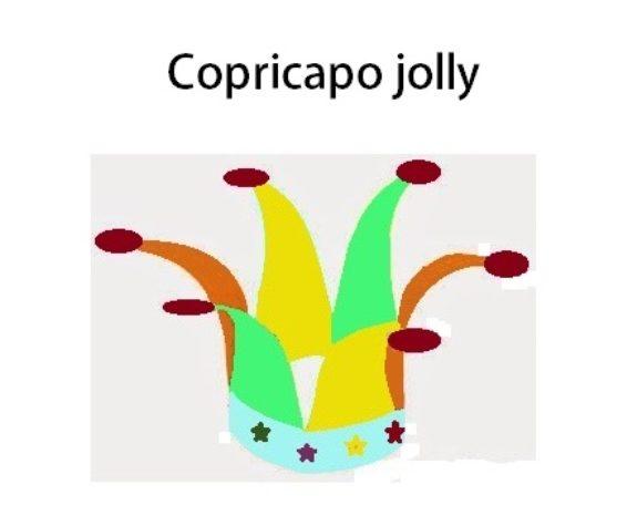 COPRICAPO JOLLY MULTICOLORE PER CARNEVALE