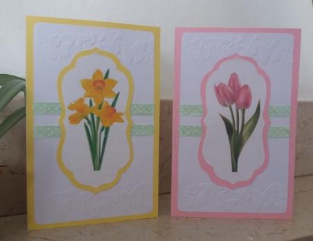 Biglietto di auguri con tulipani