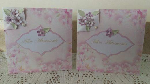 Il biglietto felice matrimonio floreale