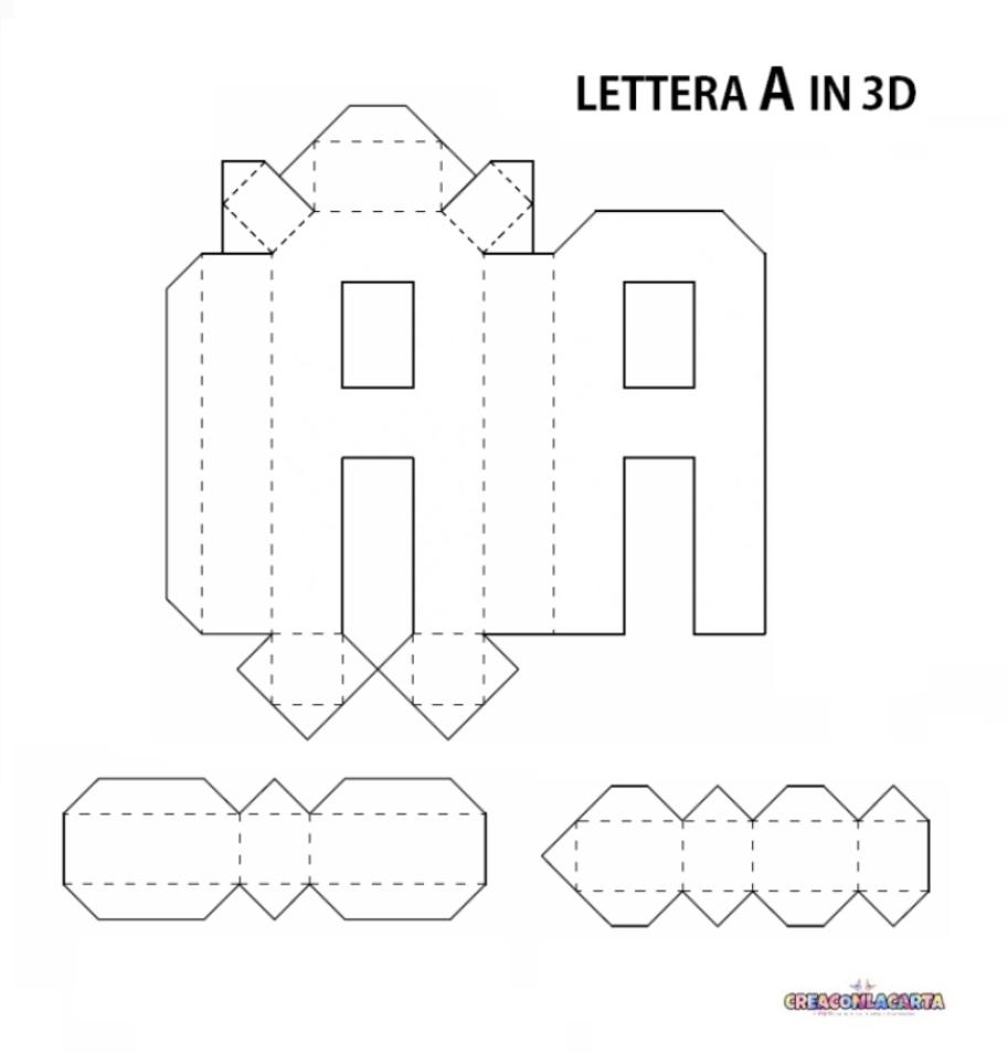 Lettere Alfabeto Da Copiare lettere dell'alfabeto e numeri in 3d fai da te | creaconlacarta