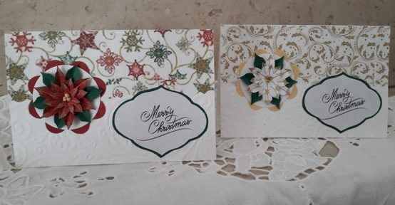 biglietti natalizi con stella di Natale