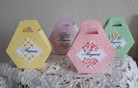 scatoline esagonali con manico
