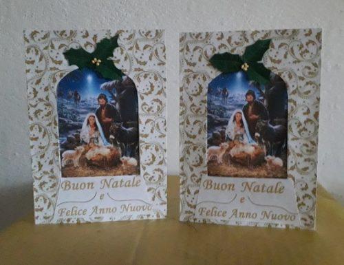 CARD D'AUGURI CON SFERA NATIVITA'