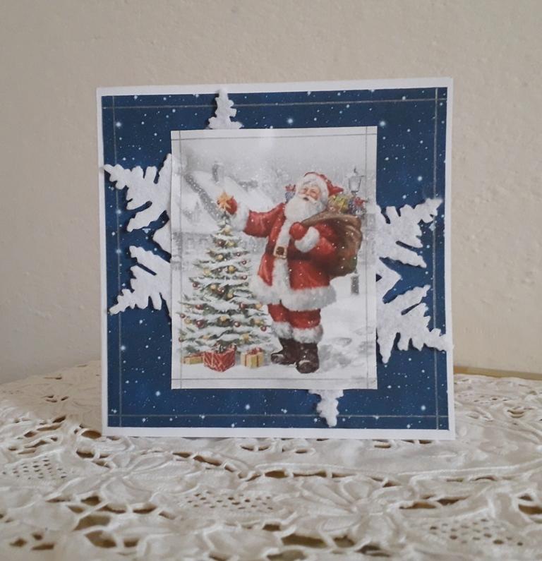 biglietto natalizio fiocco di neve