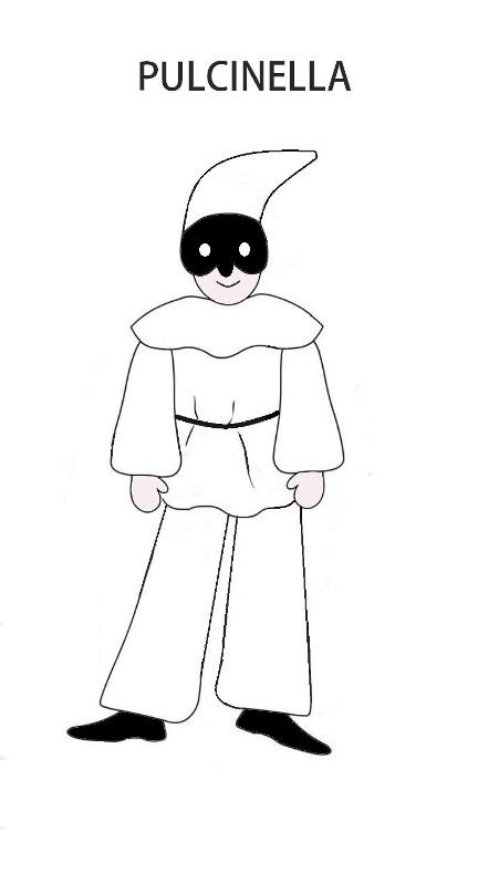 maschera tradizionale di pulcinella
